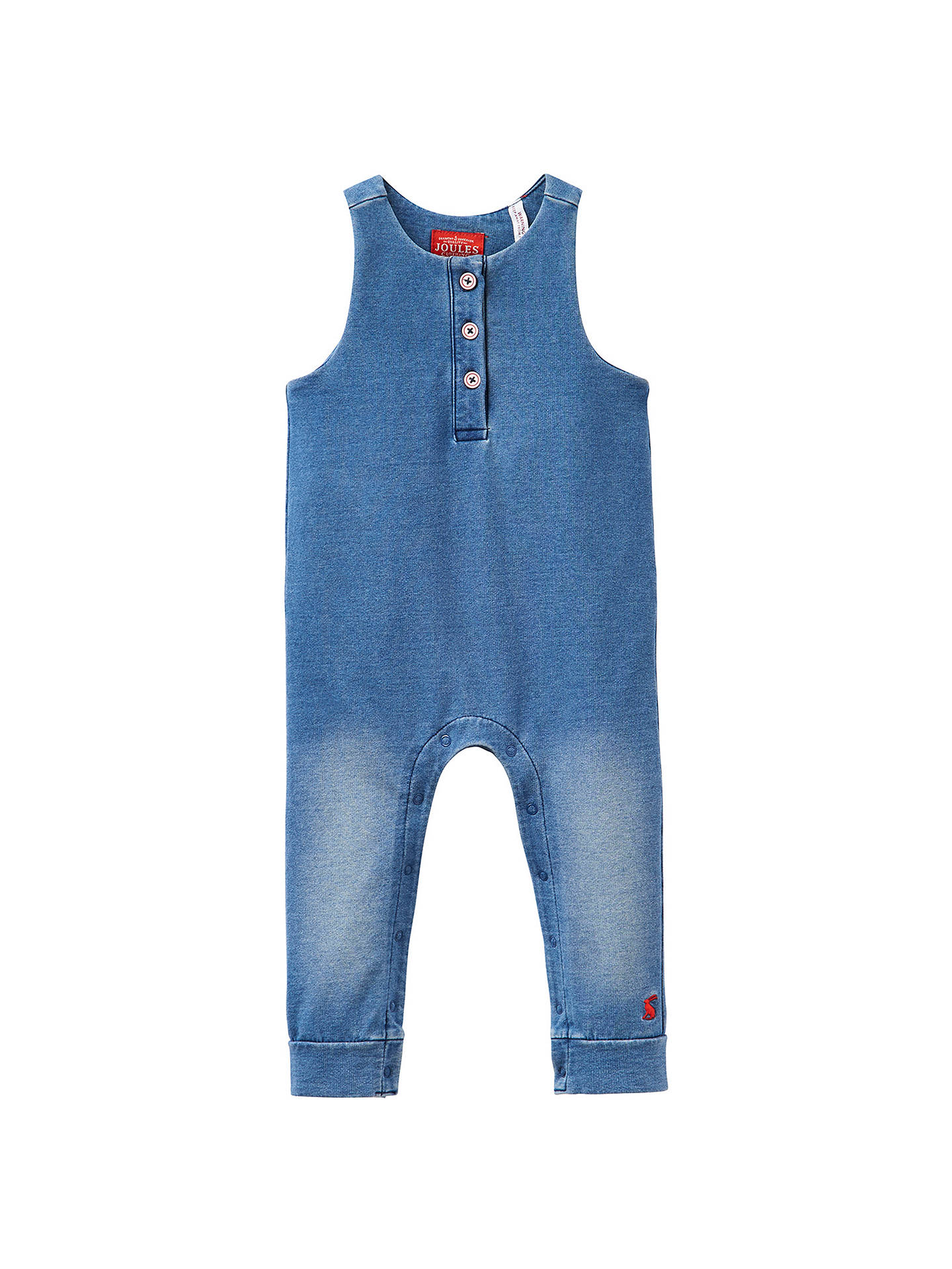 Buy Baby Joule Frankie Dungarees, Denim Blue, 0-3 months Online at johnlewis.com