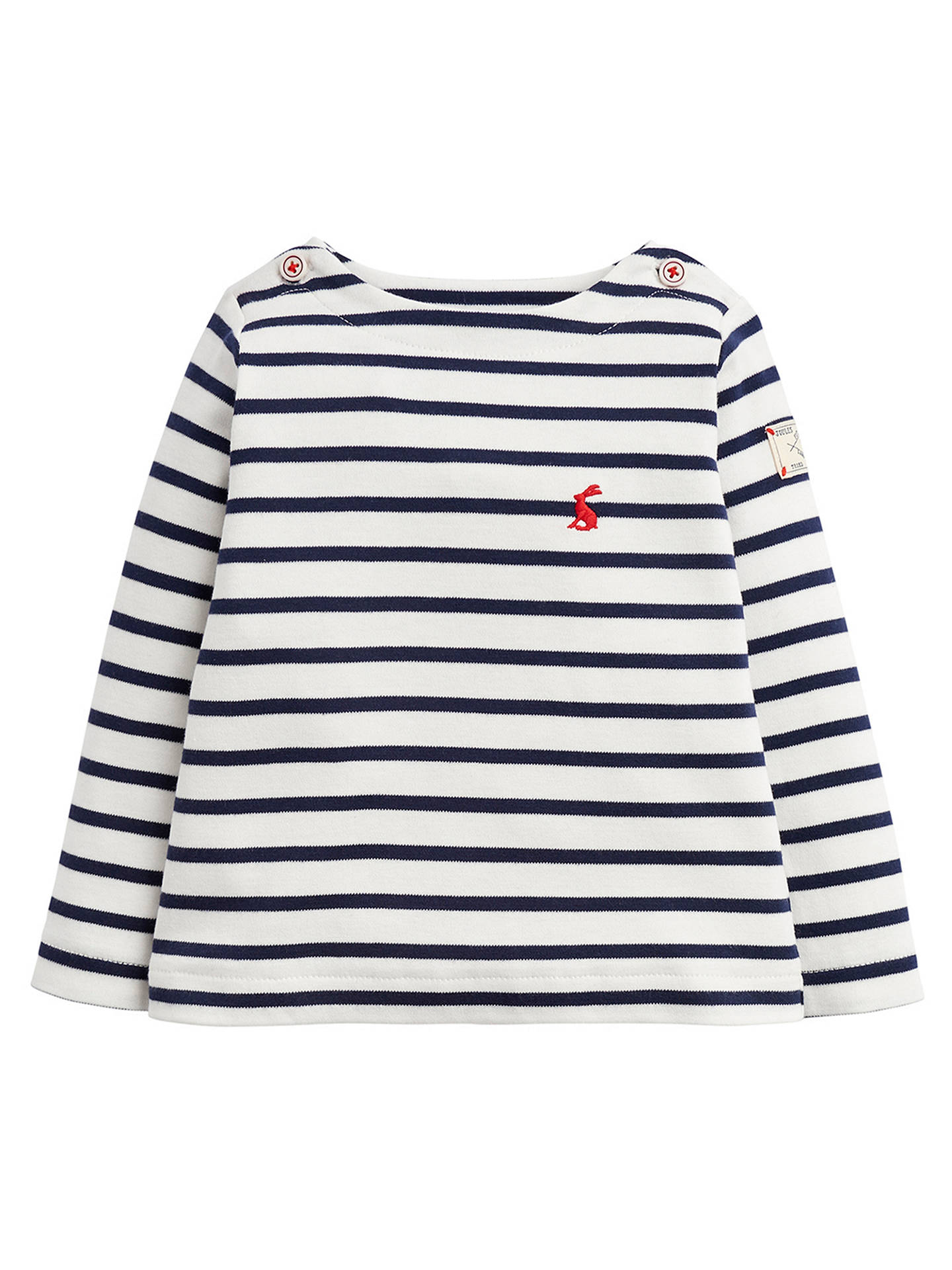 Buy Baby Joule Harbour Stripe Top, Blue/White, 0-3 months Online at johnlewis.com