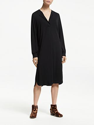 John Lewis & Partners Collarless Shirt Dress