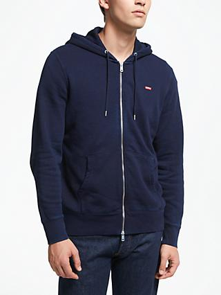 Levi's Original Zip Up Hoodie, Navy