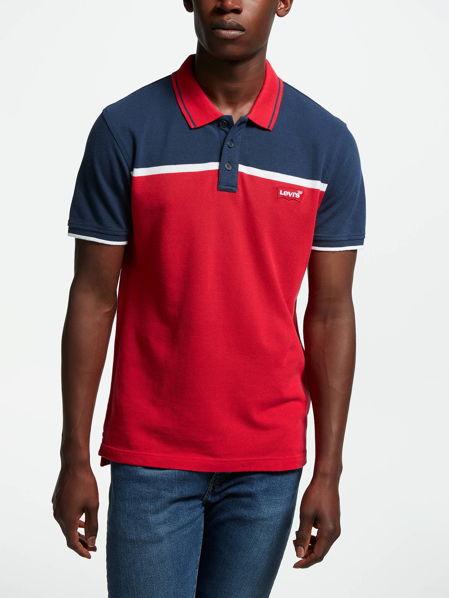 a40c4655b ... new style buylevis colour block polo shirt red blue m online at  johnlewis. d53f6 5698f