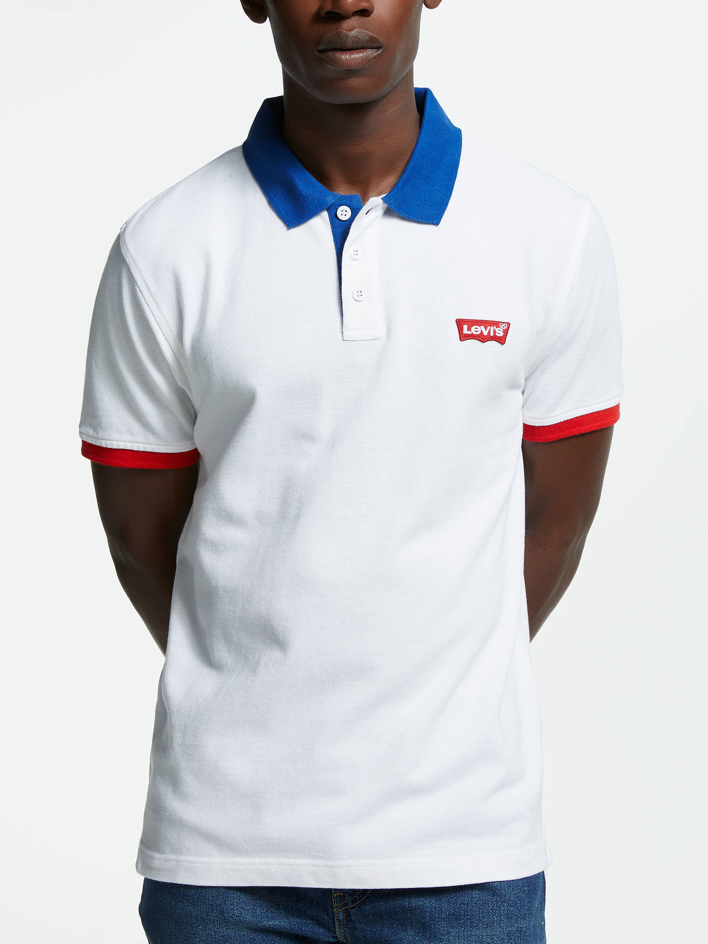 4b508b4d Buy Levi's Modern HM Polo Shirt, White/Multi, M Online at johnlewis.