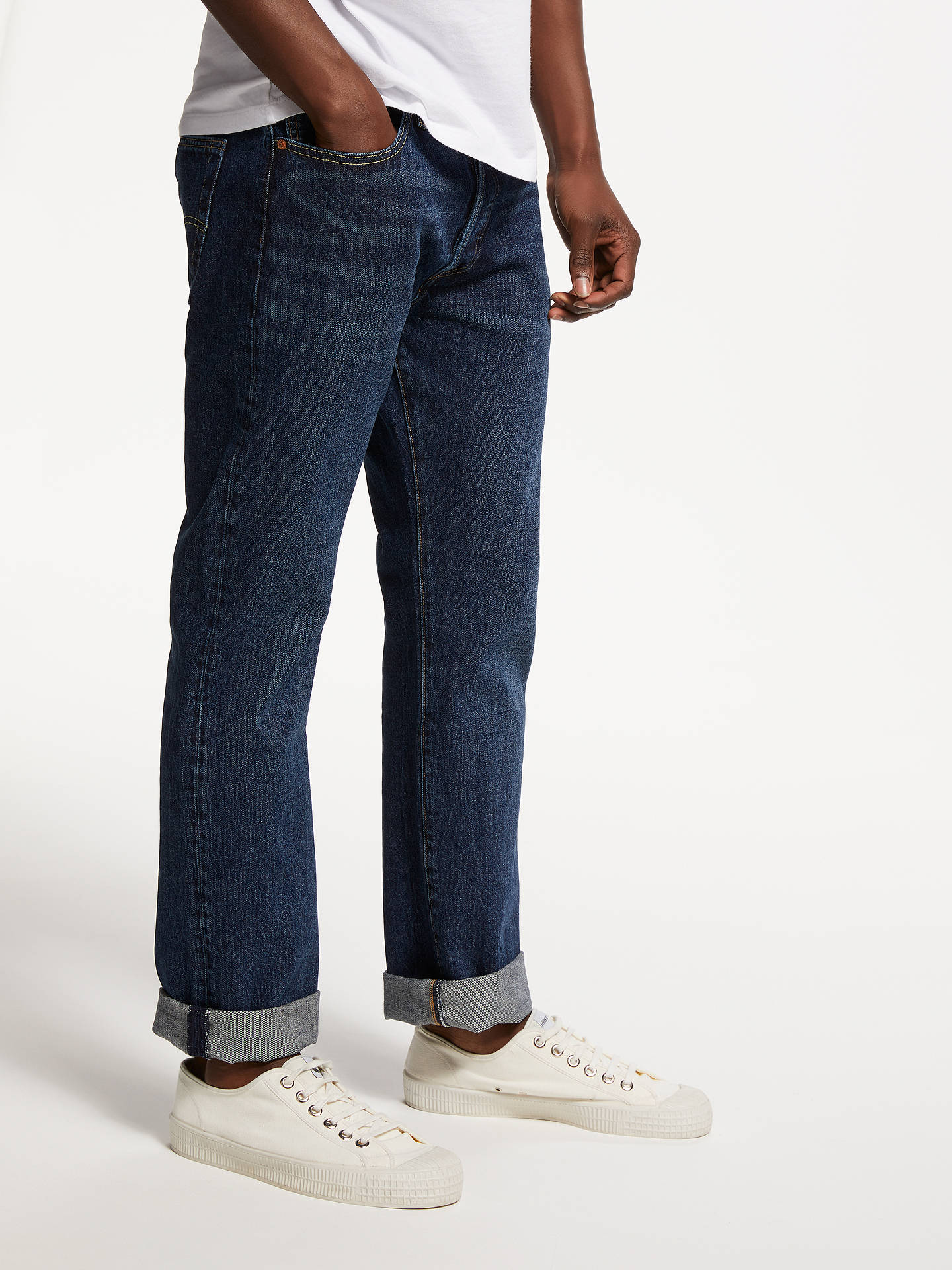 5063bcf1 Buy Levi's 501 Original Straight Jeans, Luther Blue, 30S Online at  johnlewis. ...