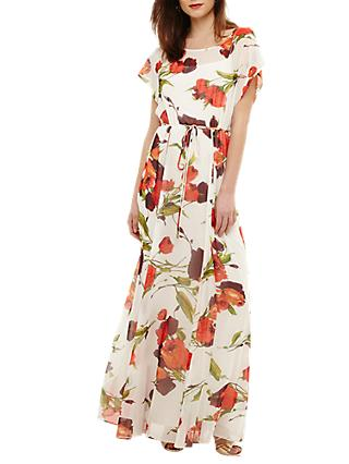 Phase Eight Candelia Maxi Dress, Ivory/Multi