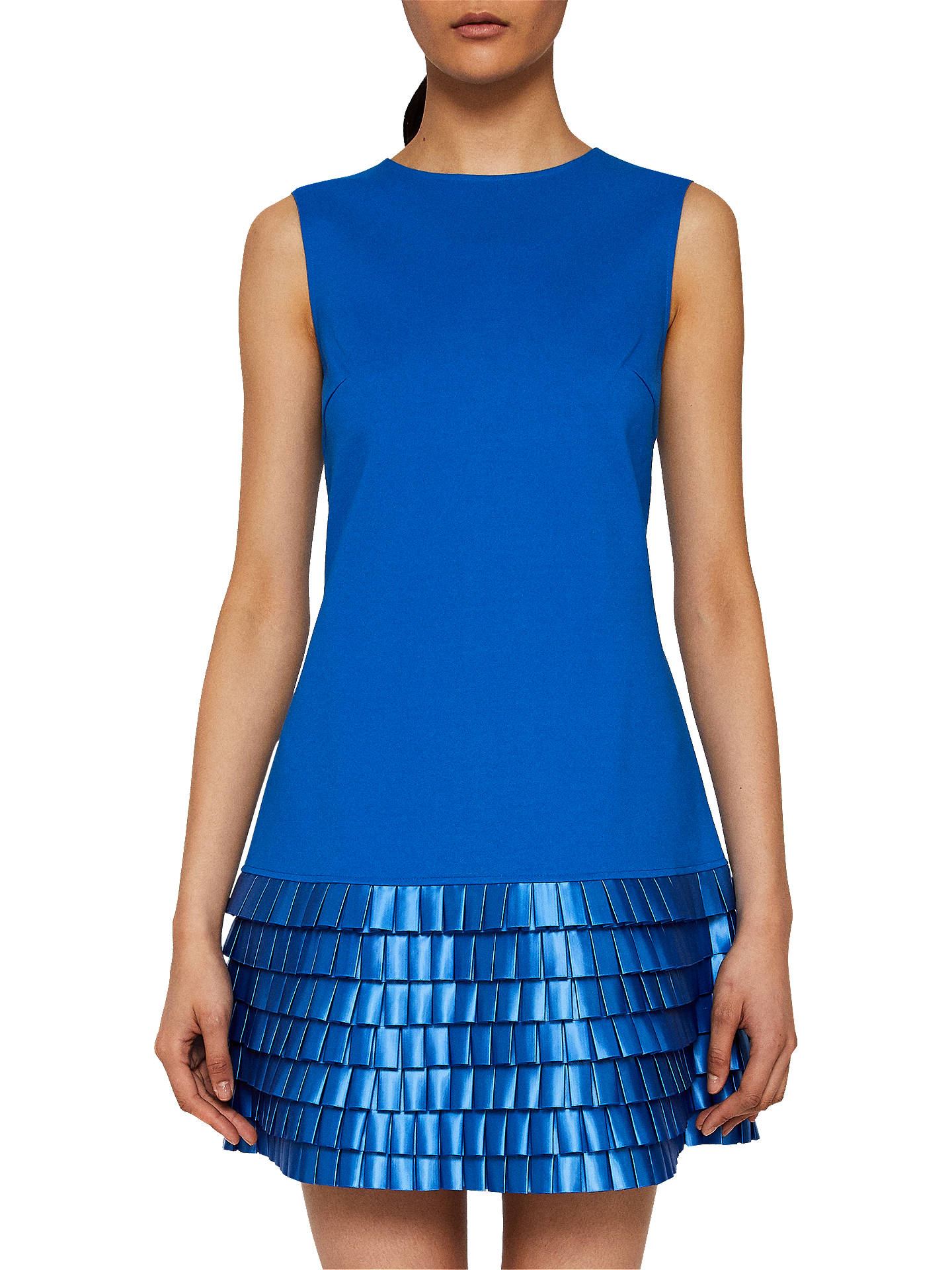 BuyTed Baker Satin Loop Shift Dress, Bright Blue, 6 Online at johnlewis.com