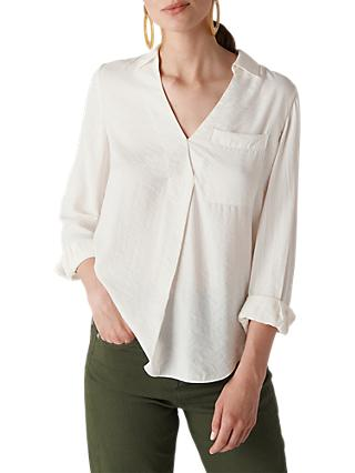 Whistles Ella Pocket Shirt, Ivory