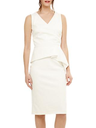 Phase Eight Saskia Scuba Dress, Cream
