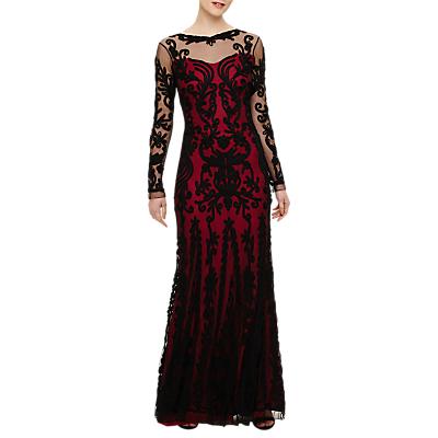 Phase Eight Collection 8 Cosima Maxi Dress, Black/Azalea