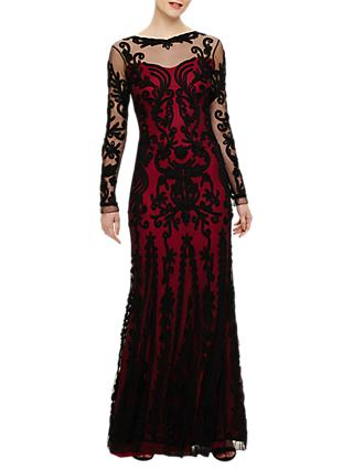 Phase Eight Collection 8 Cosima Maxi Dress, Black/Azalea