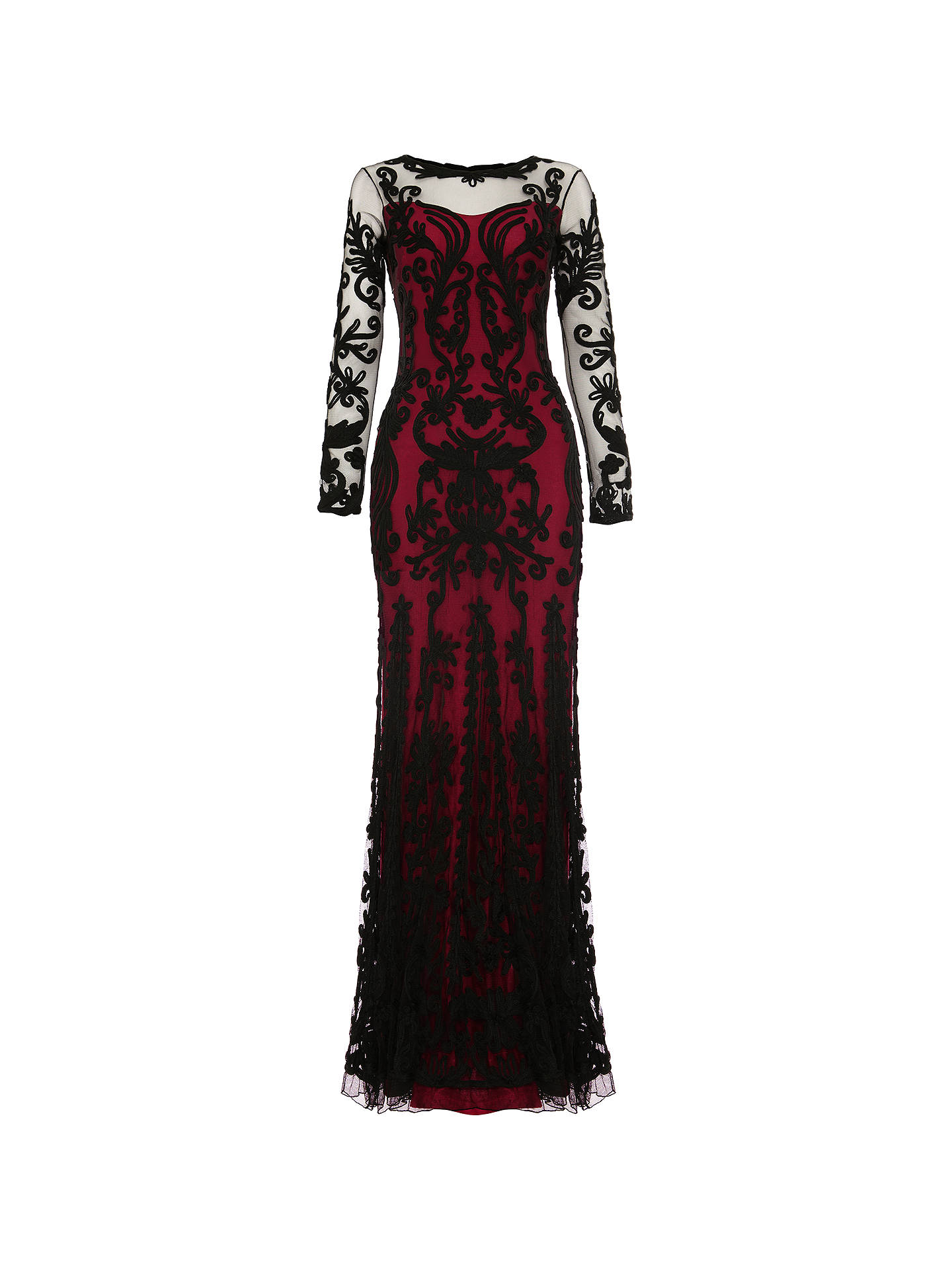 Buy Phase Eight Collection 8 Cosima Maxi Dress, Black/Azalea, 8 Online at johnlewis.com