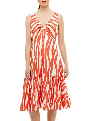 Phase Eight Winona Dress, White/Orange