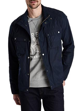 Barbour International Stannington Biker Jacket, Navy