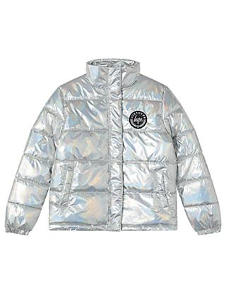 Hype Girls' Puffer Jacket, Silver