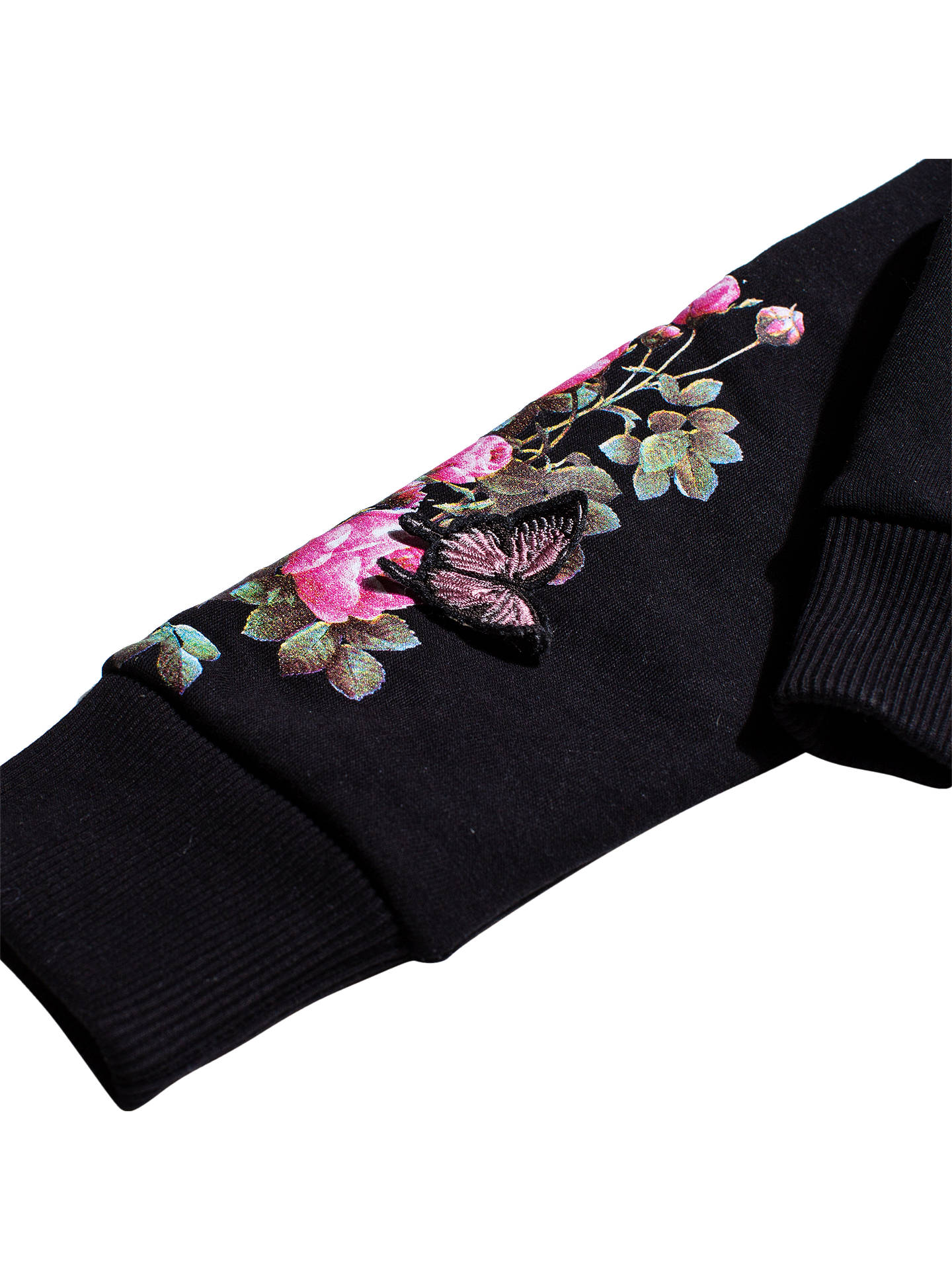 9d984f897aa ... Buy Hype Girls' Butterfly Embroidered Crop Hoodie, Black, 7-8 years  Online ...