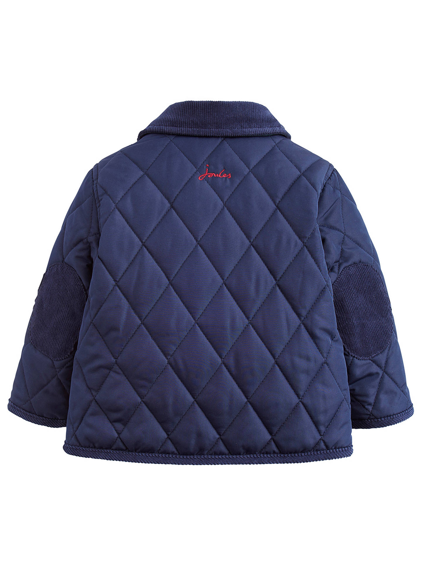 Buy Baby Joule Milford Quilted Jacket, Navy, 0-3 months Online at johnlewis.com