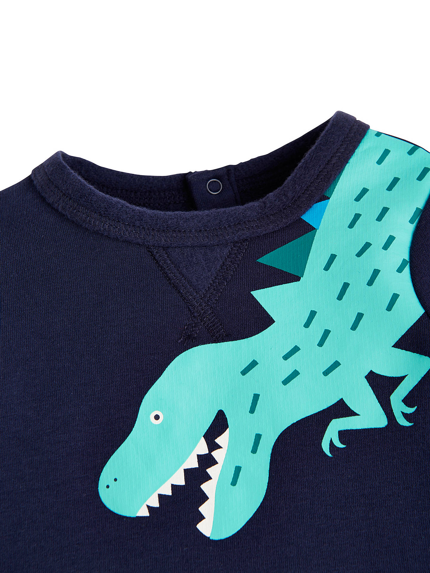 Buy Baby Joule Boo Dino Sweat Top, Navy, 0-3 months Online at johnlewis.com