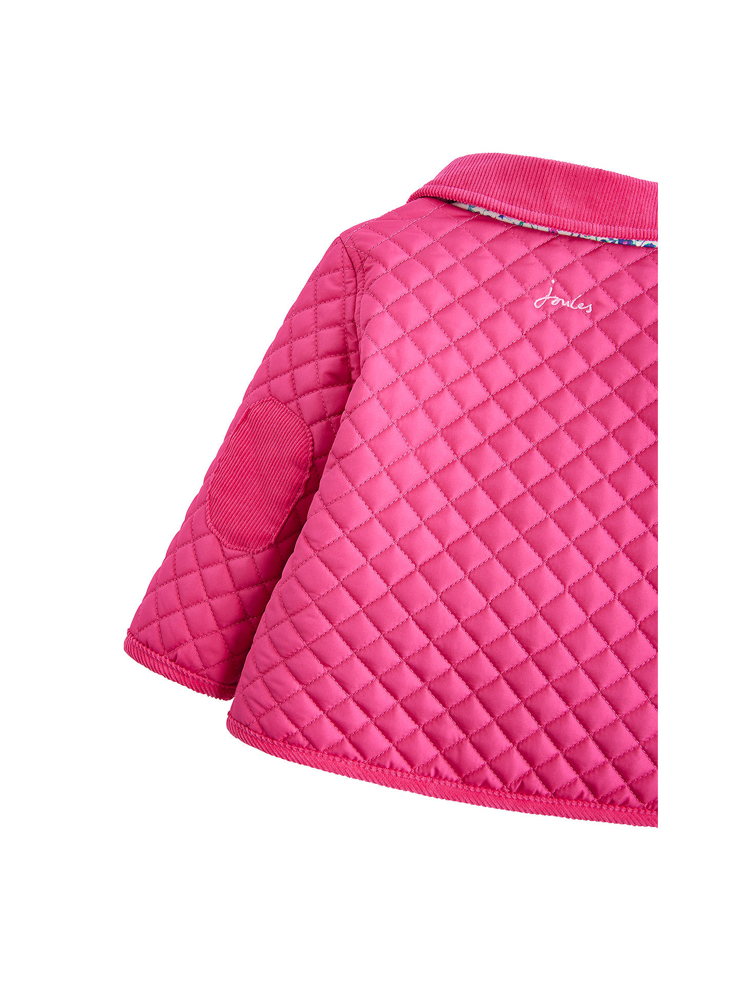 Buy Baby Joule Mabel Quilted Jacket, Pink, 6-9 months Online at johnlewis.com