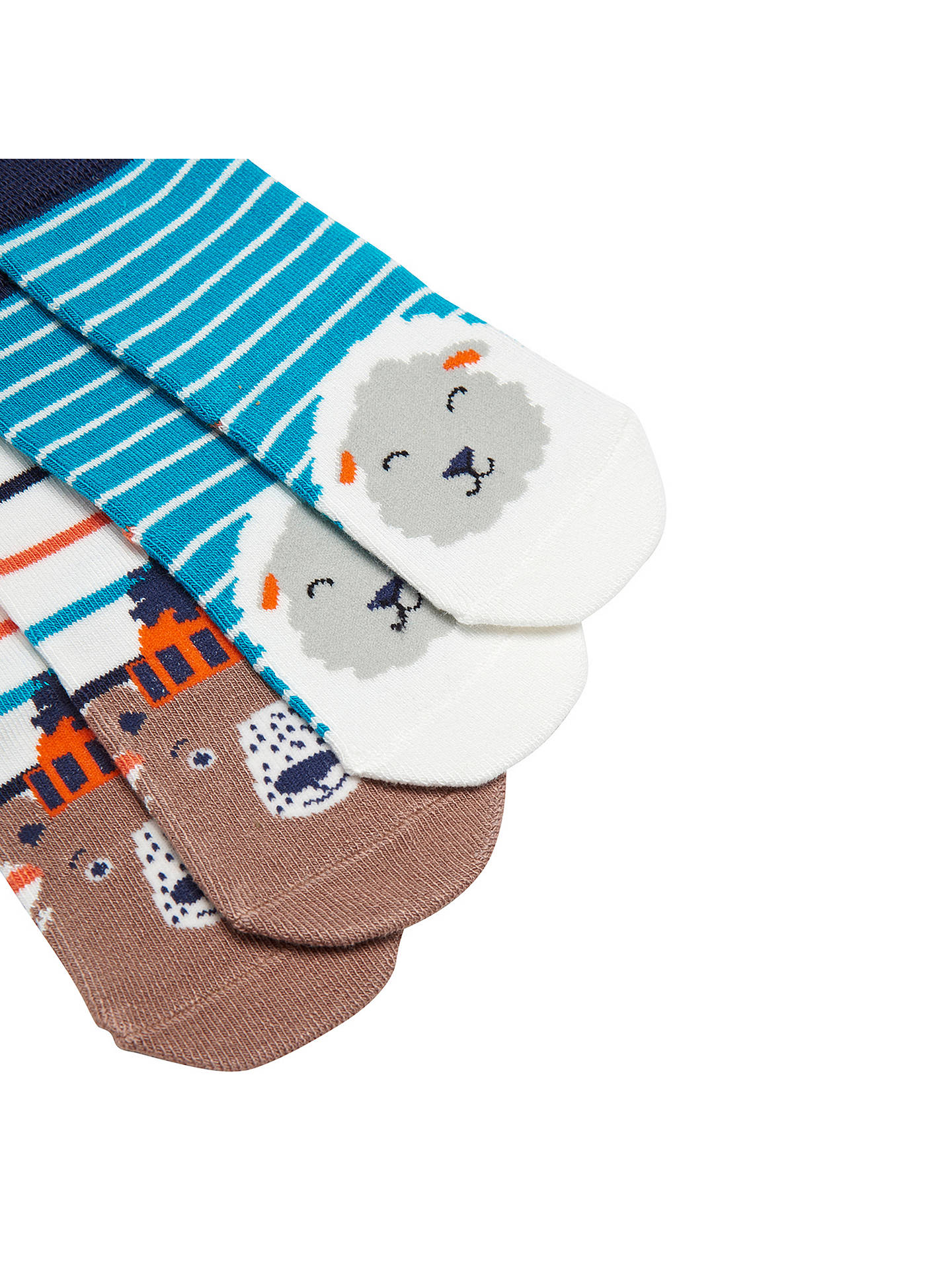 Buy Baby Joule Neat Feet Sheep and Bear Socks, Pack of 2, Multi, 1-2 years Online at johnlewis.com