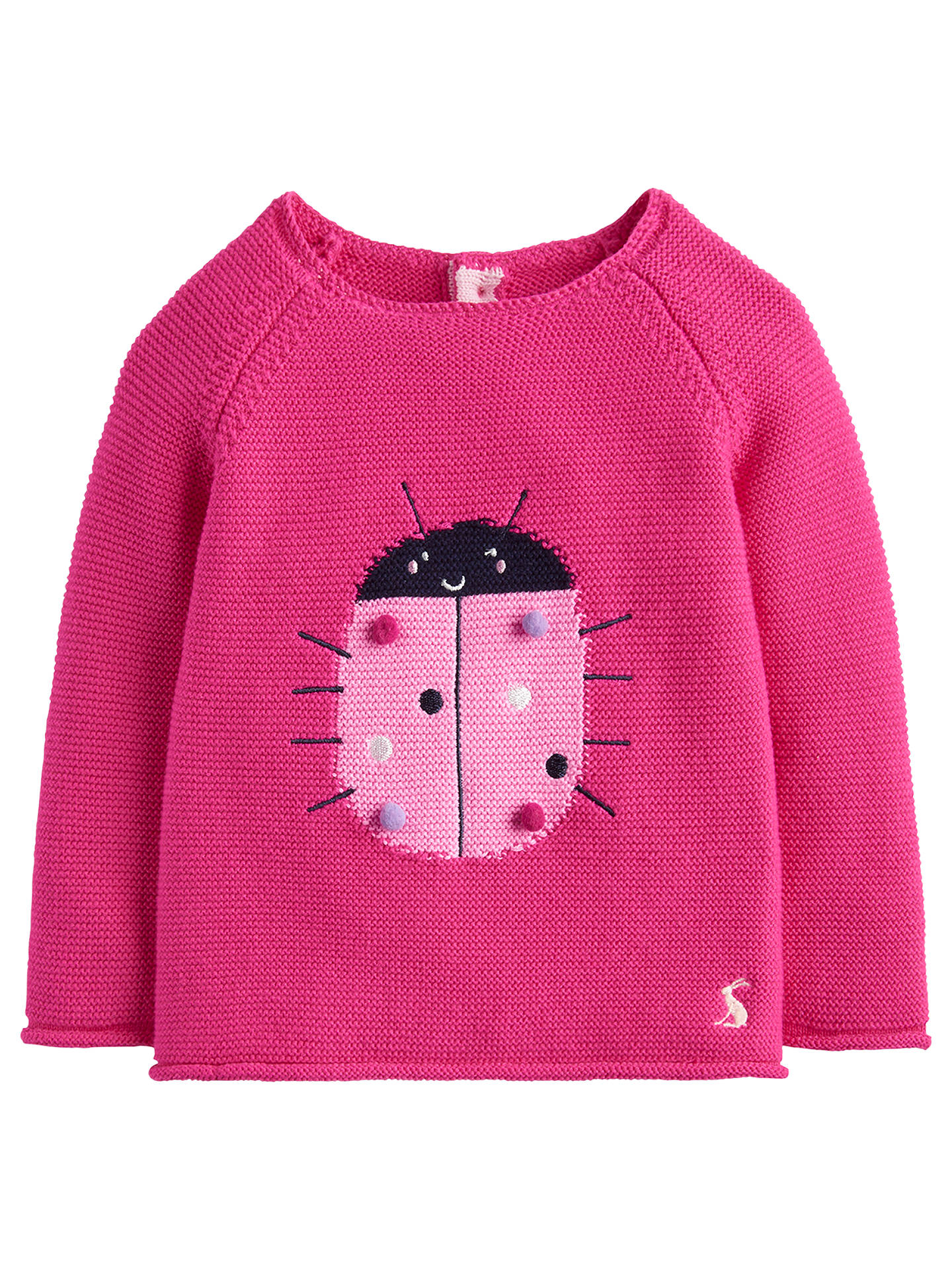 Buy Baby Joule Winnie Ladybird Jumper, Pink, 6-9 months Online at johnlewis.com