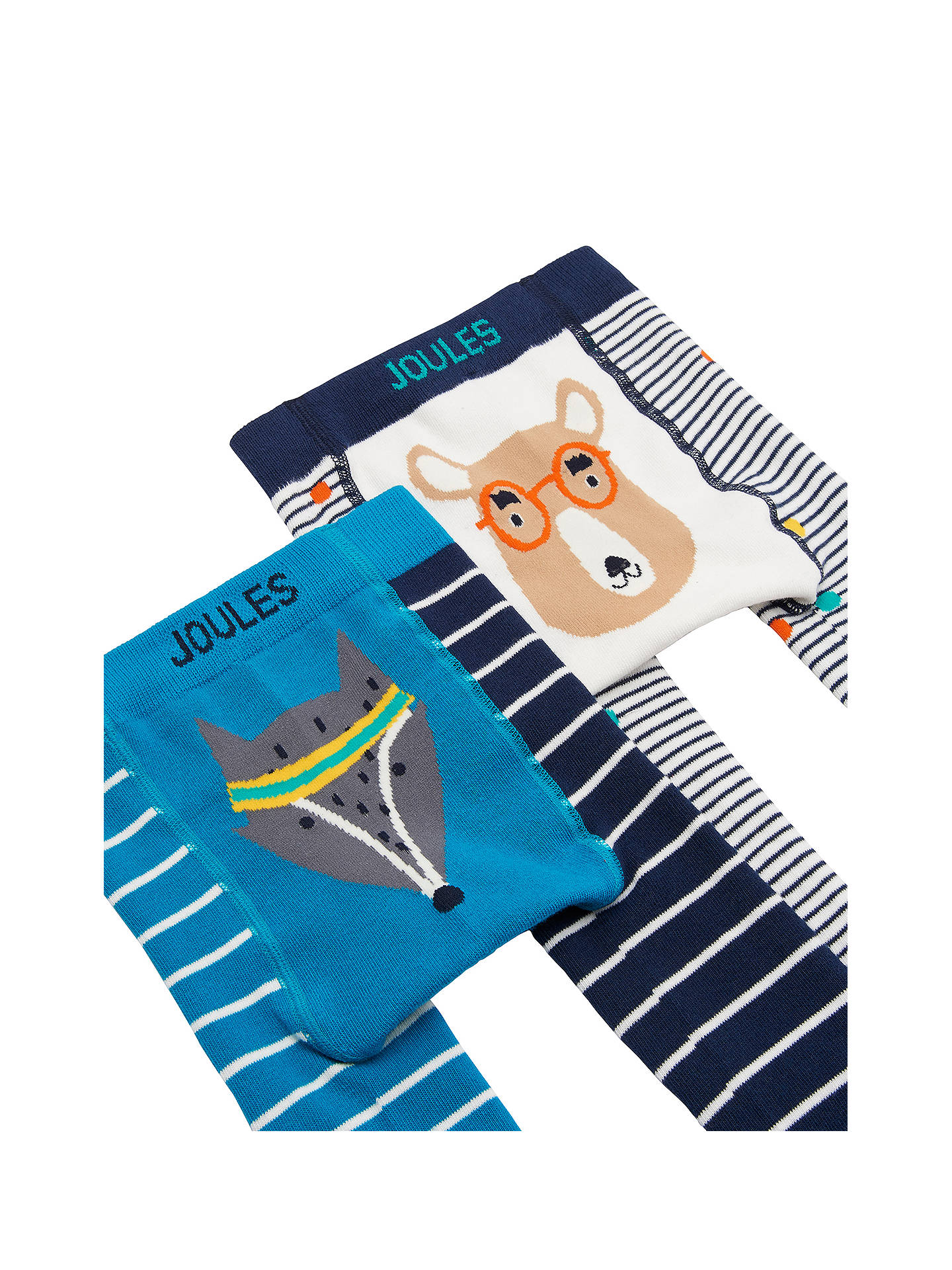 BuyBaby Joule Lively Legs Bear and Fox Leggings, Pack of 2, Multi, 0-6 months Online at johnlewis.com