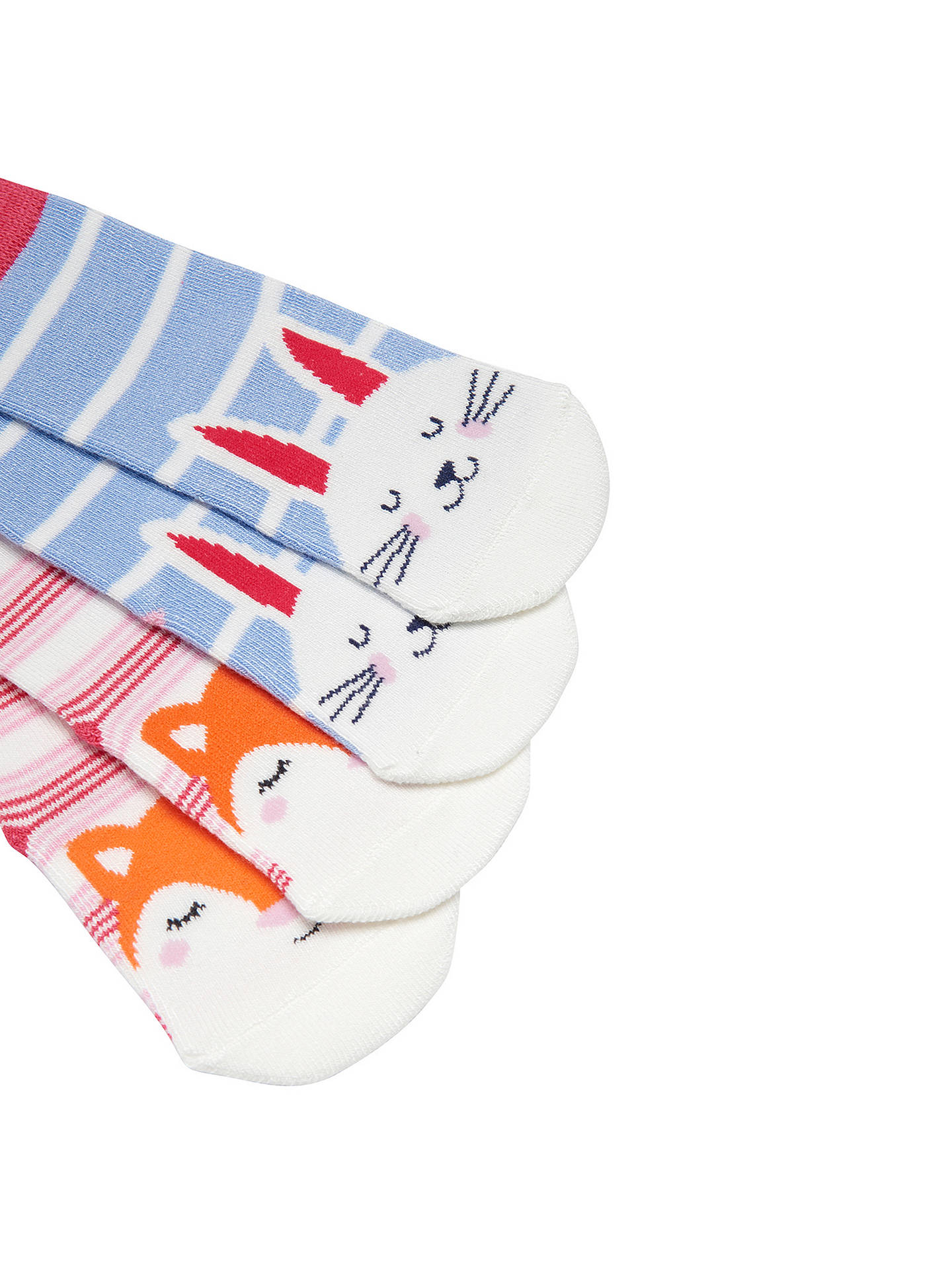 BuyBaby Joule Neat Feet Fox and Bunny Socks, Pack of 2, Multi, 0-6 months Online at johnlewis.com