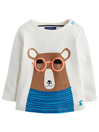 Buy Baby Joule Jack Bear Top, Cream, 0-3 months Online at johnlewis.com