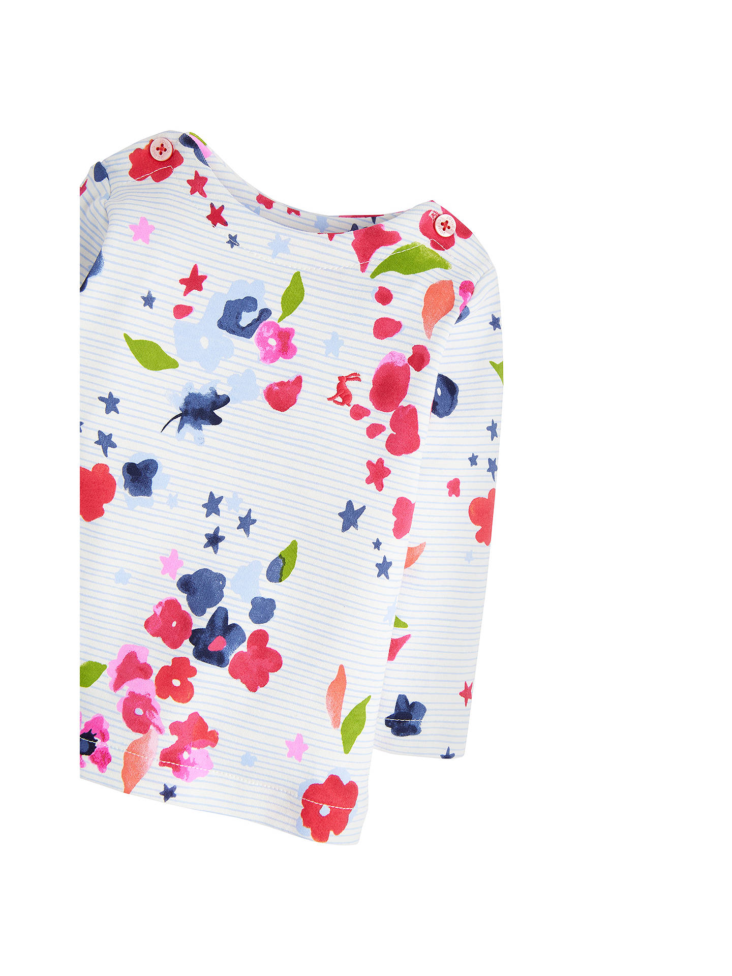 BuyBaby Joule Harbour Floral Stripe T-Shirt, Multi, 0-3 months Online at johnlewis.com