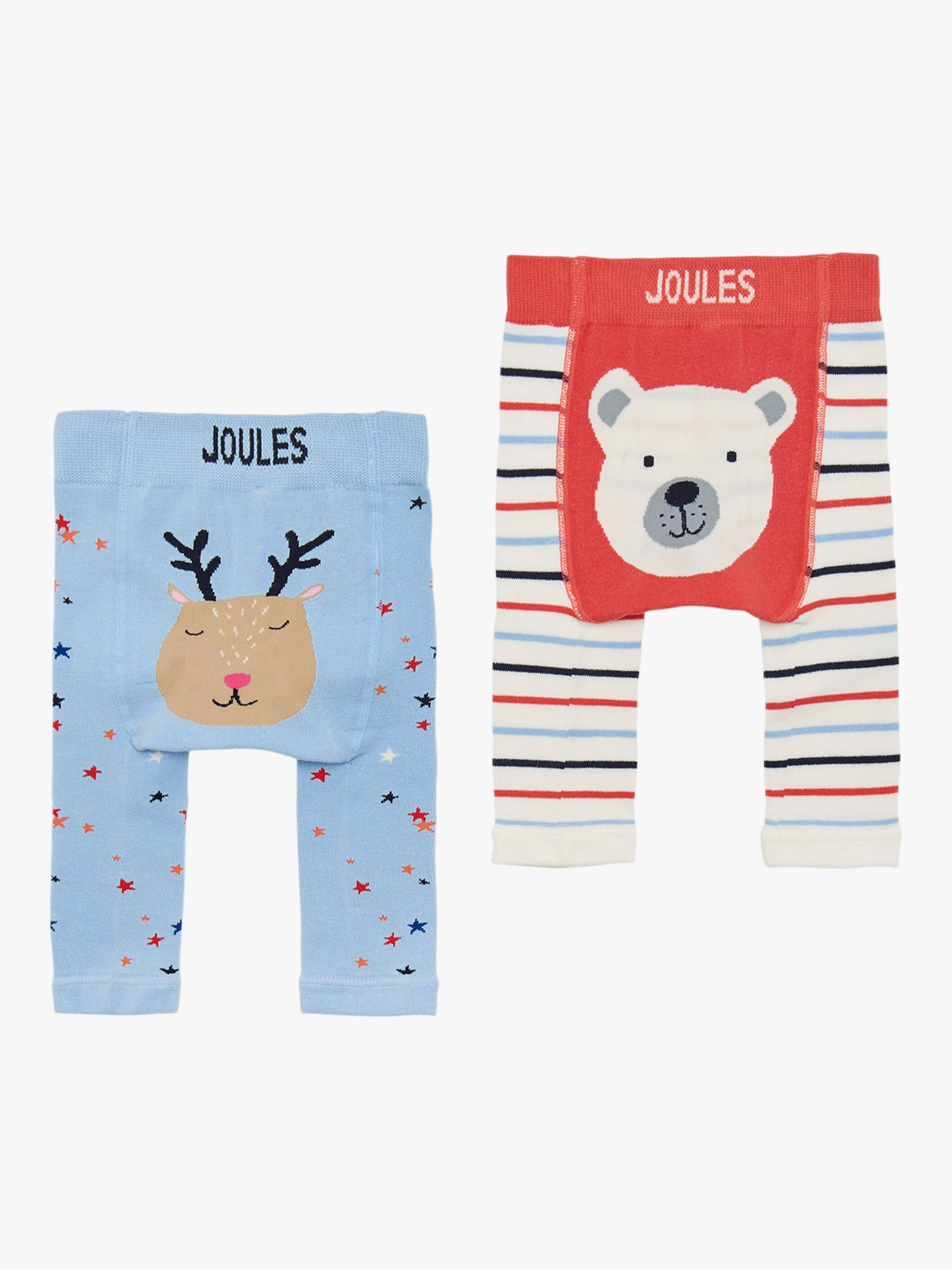 Little Joules Baby Lively Legs Polar Bear Tights Pack Of 2 Multi At John Lewis Partners