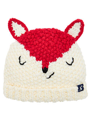Buy Baby Joule Chummy Fox Hat, Cream/Red, 0-6 months Online at johnlewis.com