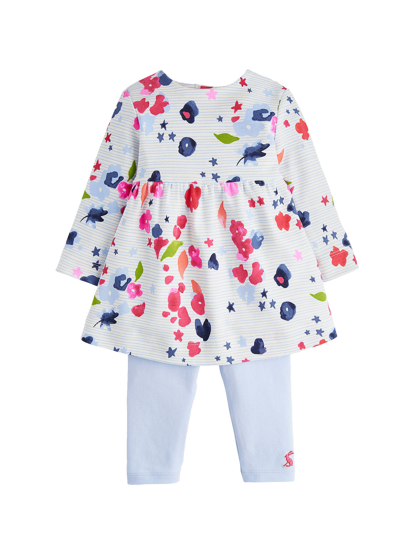 39c17334a Baby Joule Floral Stripe Dress Set, Blue/Multi at John Lewis & Partners