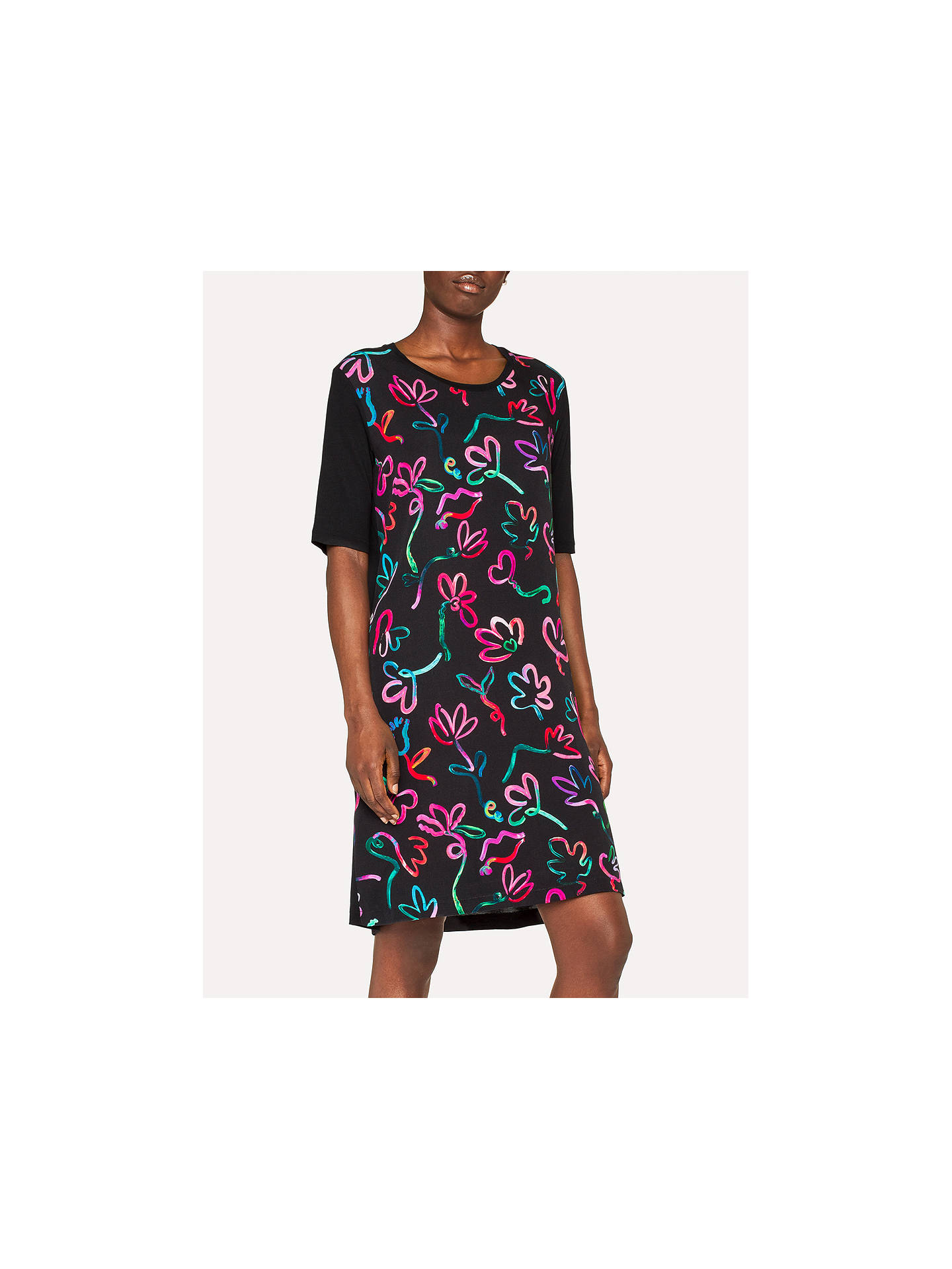Buy PS Paul Smith Acapulco T-Shirt Dress, Black, S Online at johnlewis.com