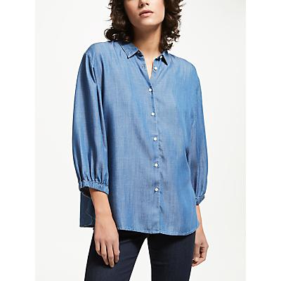 Lee Bell Sleeve Shirt, Bleached Denim