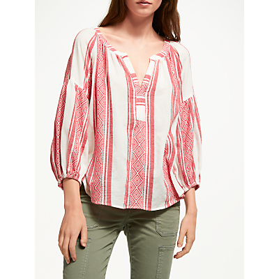 Velvet by Graham & Spencer Britt Island Blouse, Red/White