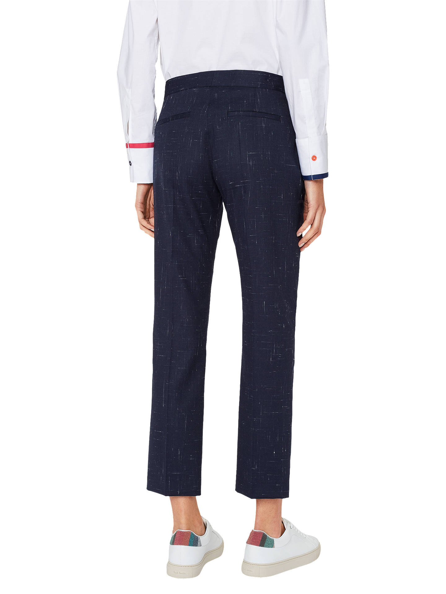 Buy PS Paul Smith Fleck Slim Fit Trousers, Navy, 8 Online at johnlewis.com