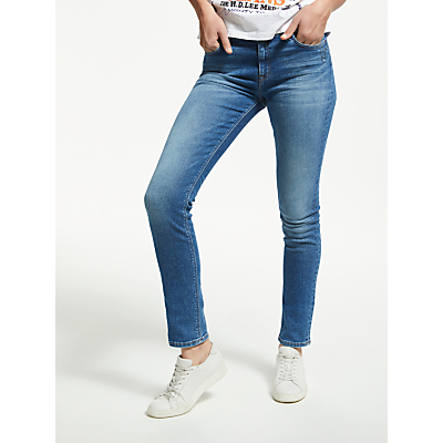 Lee Elly High Waist Slim Doodle Placement Jeans, Blue
