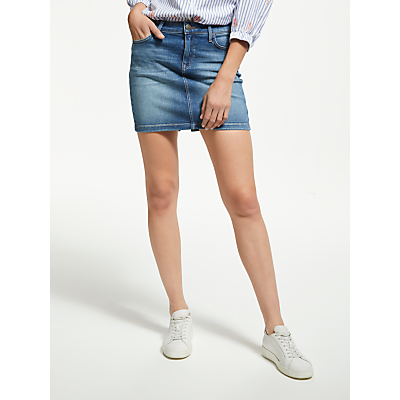 Lee Mid Denim Skirt, Blue Drop
