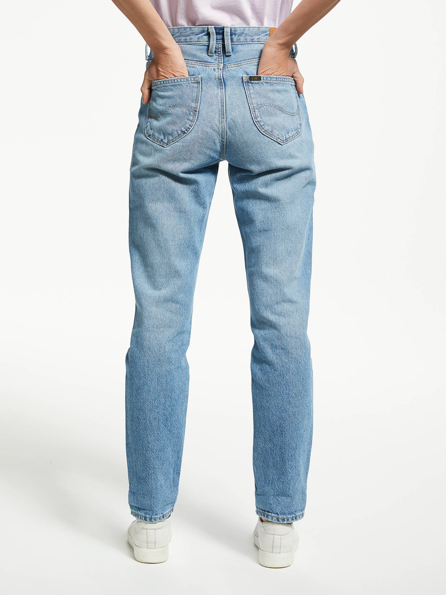 29785697 Buy Lee Mom Straight Relaxed Jeans, Salina, W27/L31 Online at johnlewis.