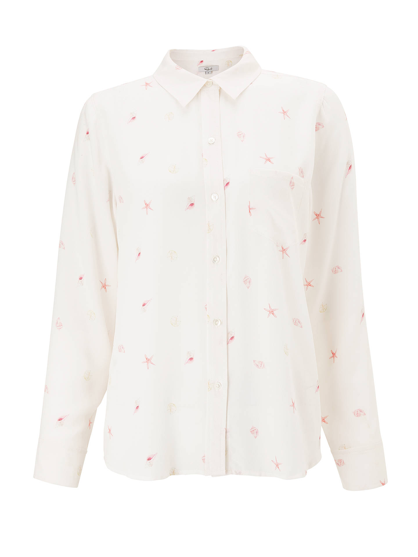 BuyRails Kate Printed Silk Shirt, Beachside, XS Online at johnlewis.com