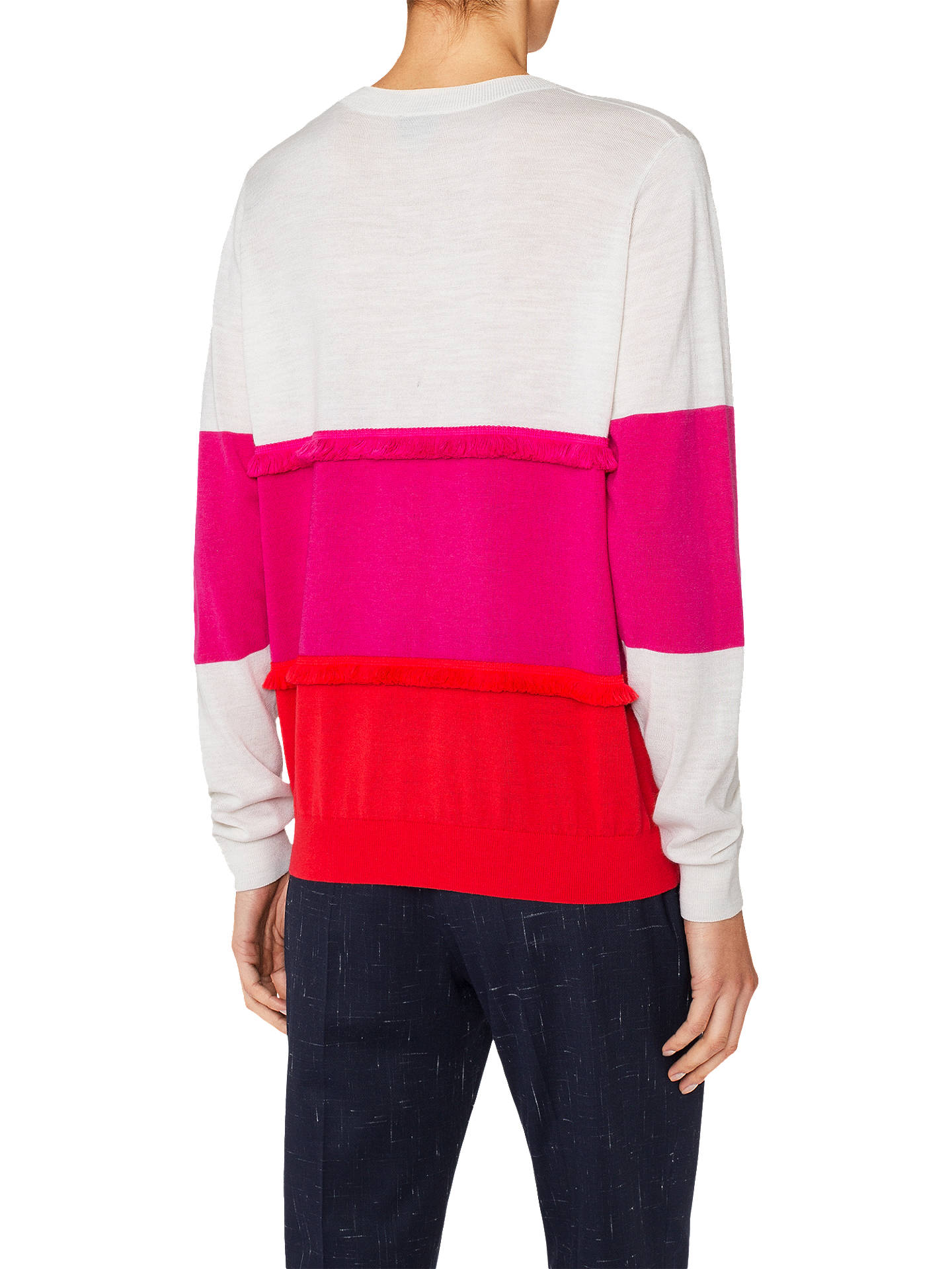 Buy PS Paul Smith Fringe Heart Wool Jumper, Pink, XS Online at johnlewis.com