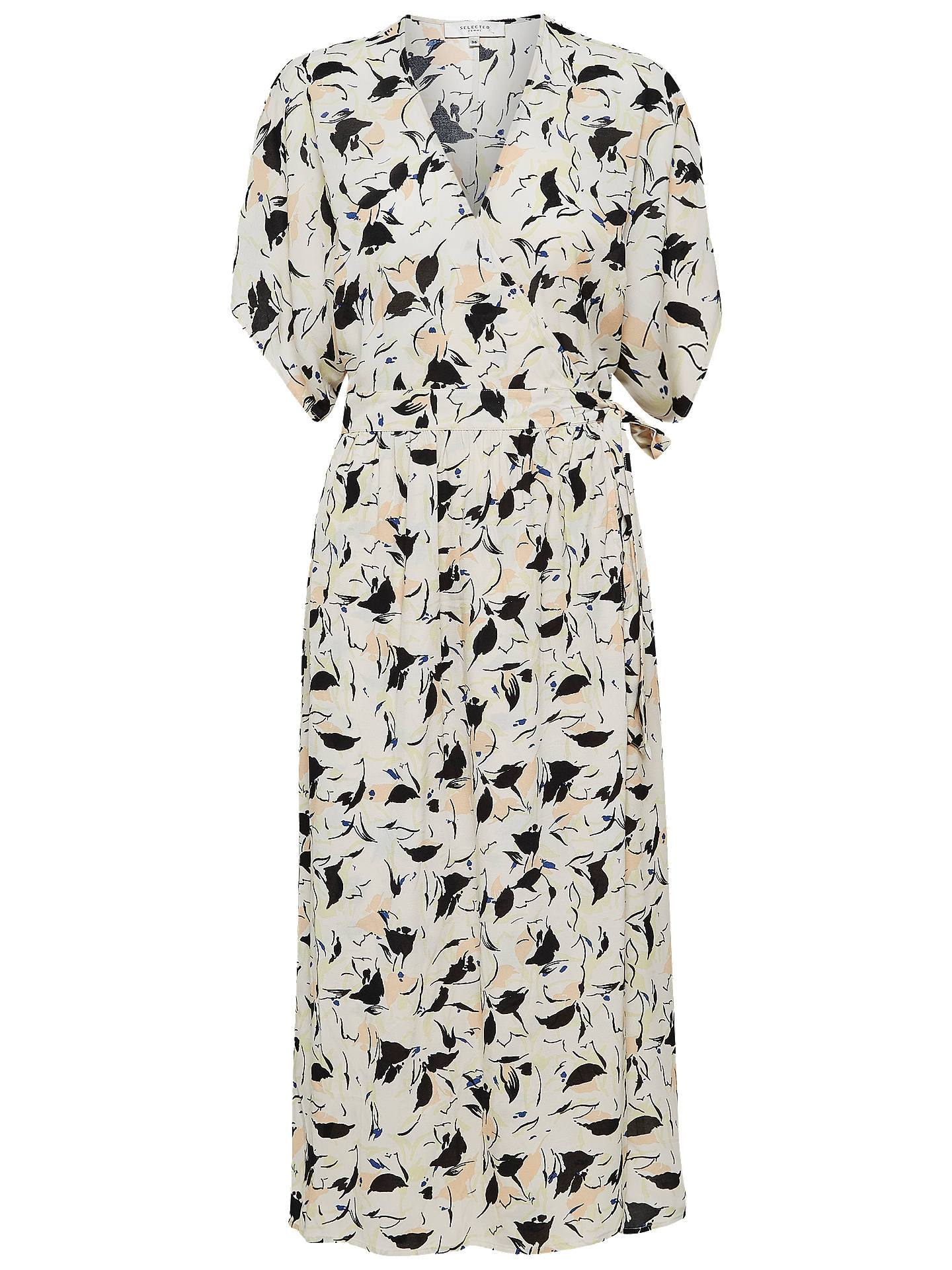 Buy Selected Femme Flori Kimono Wrap Dress, Sand Dollar, 14 Online at johnlewis.com