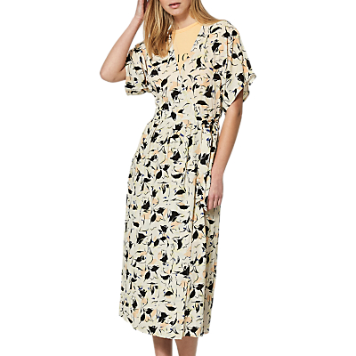 Selected Femme Flori Kimono Wrap Dress, Sand Dollar