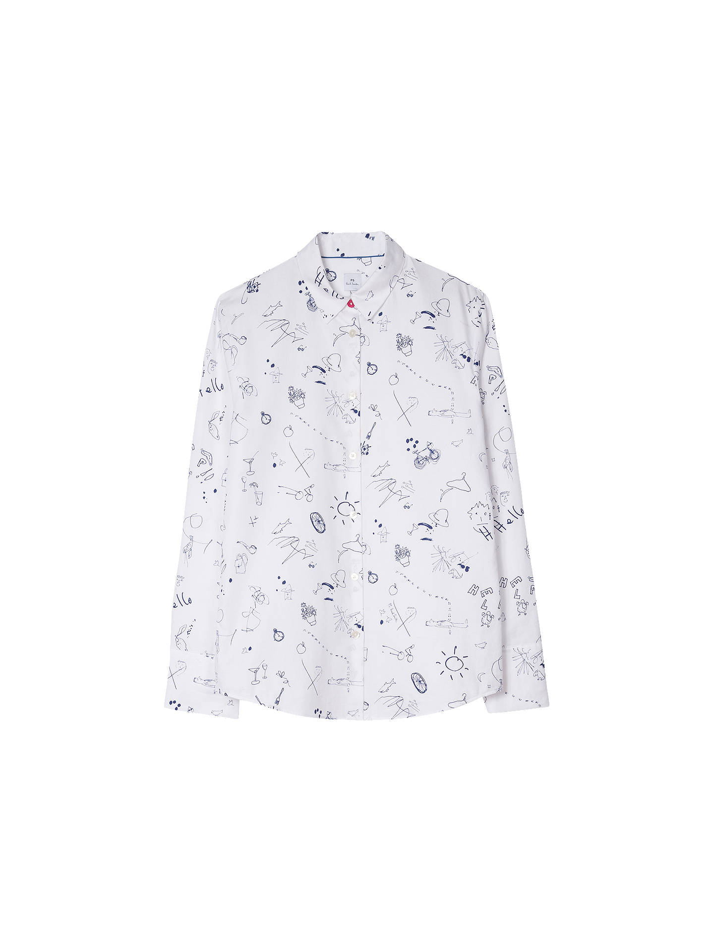 BuyPS Paul Smith Paul's Sketch Shirt, White, 8 Online at johnlewis.com