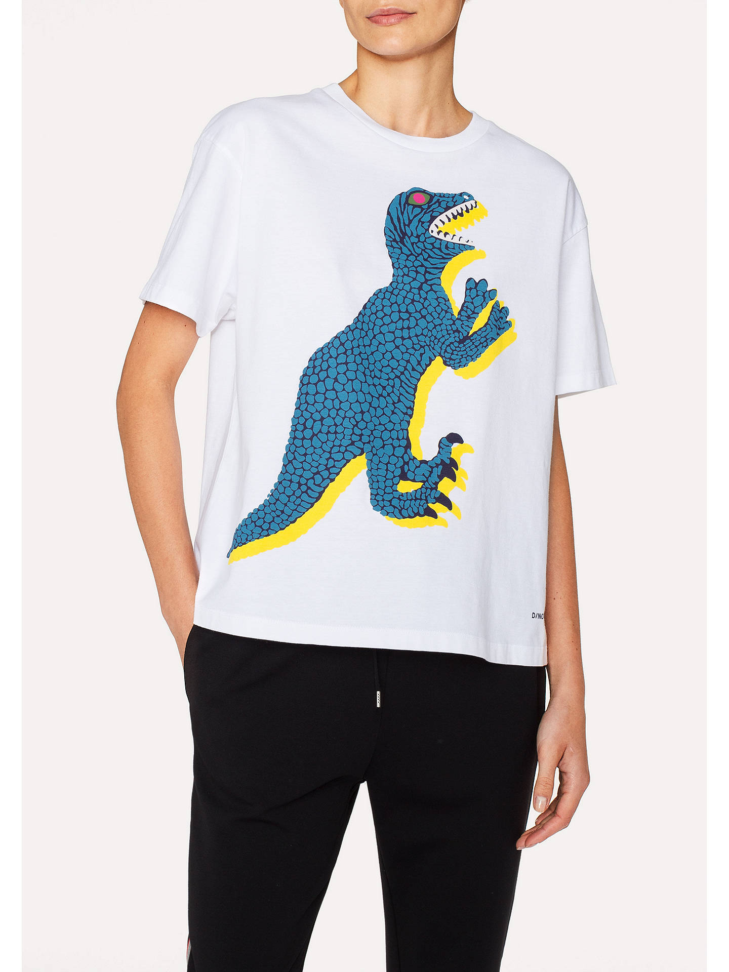 Buy PS Paul Smith Large Dino Print T-Shirt, White, L Online at johnlewis.com