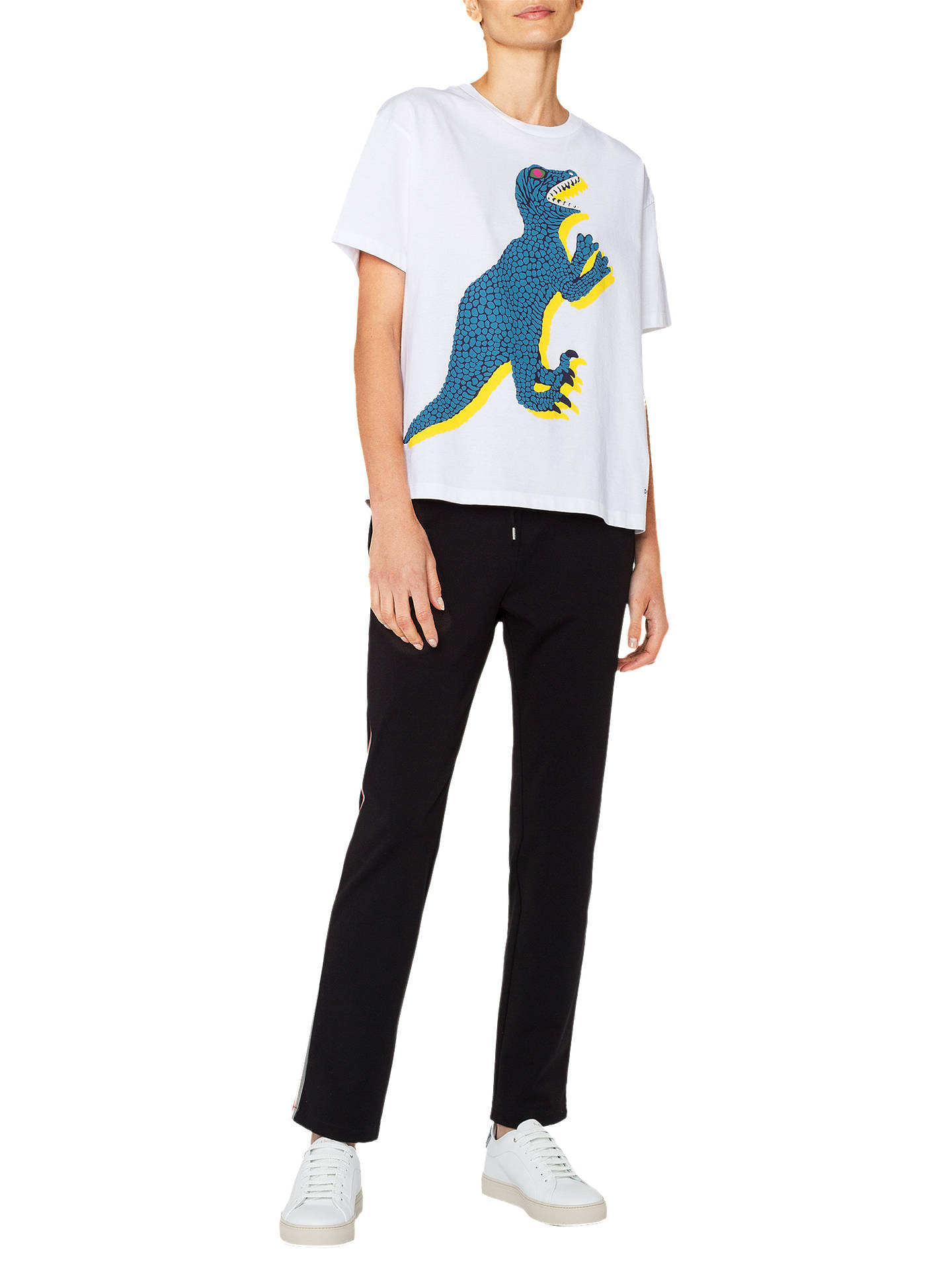 Buy PS Paul Smith Large Dino Print T-Shirt, White, XL Online at johnlewis.com