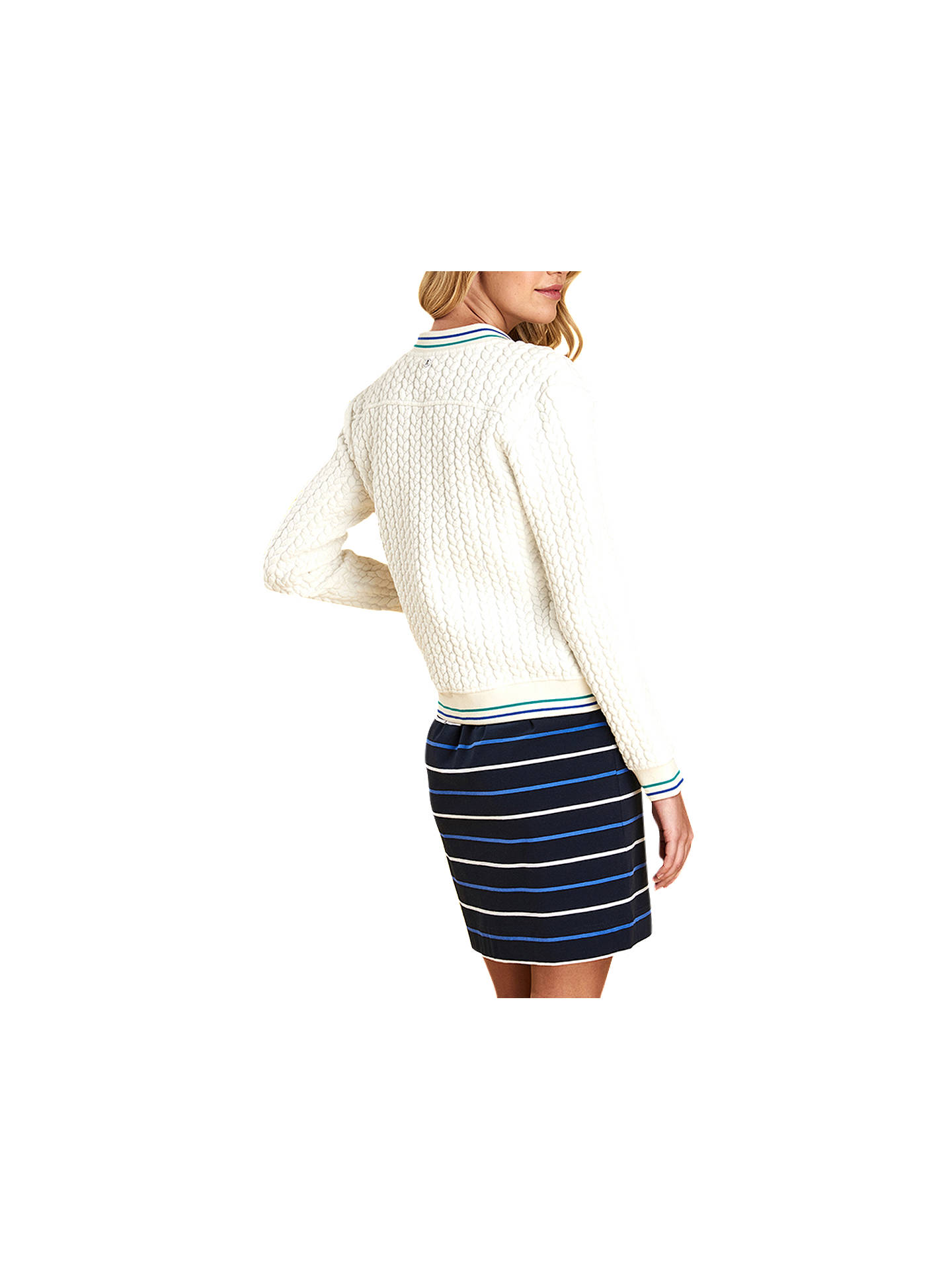 BuyBarbour Pentle Cable Sweater Cardigan, White, 12 Online at johnlewis.com