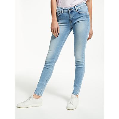 Lee Scarlett Placed Doodle Skinny Jeans, Blue