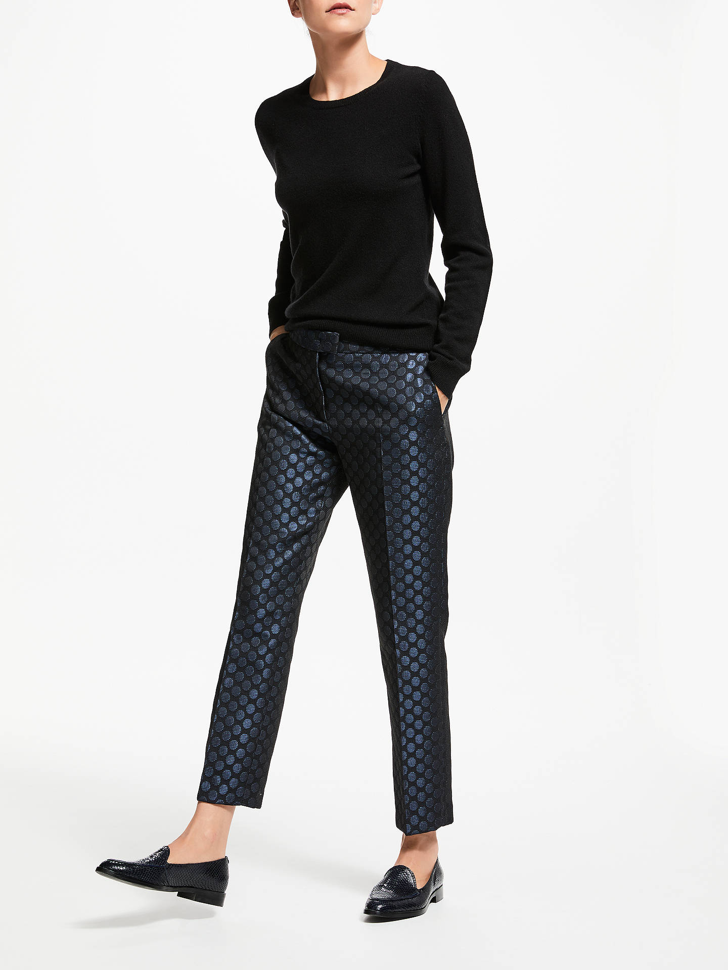 Buy PS Paul Smith Spot Trousers, Navy, 8 Online at johnlewis.com