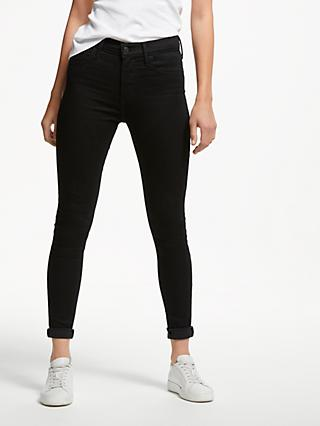 Levi's 720 High Rise Super Skinny Jeans, Black Galaxy