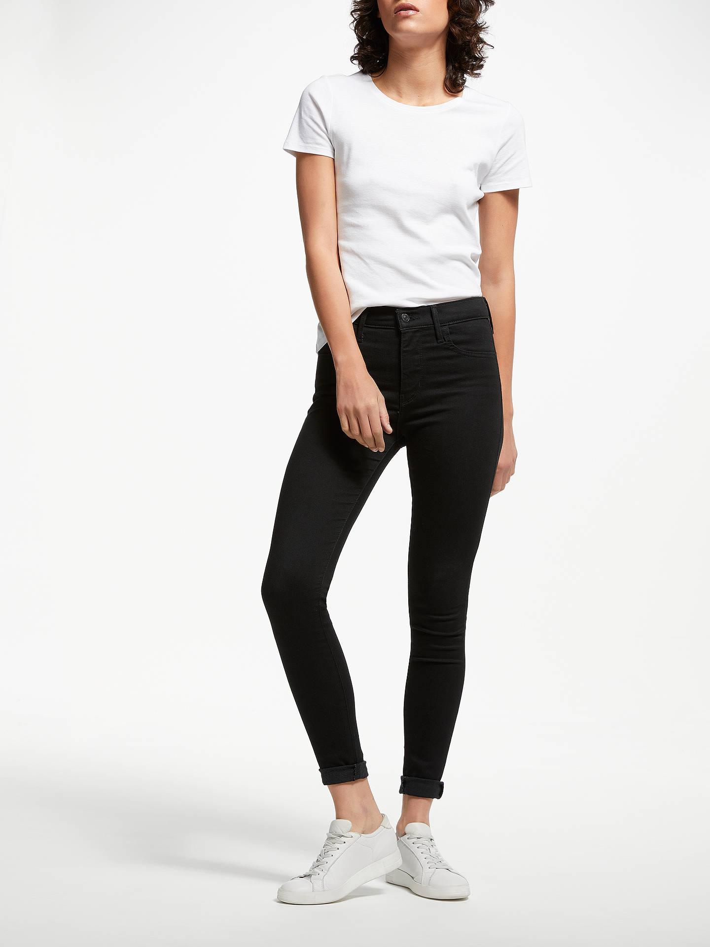 e5da1144eae ... Buy Levi's 720 High Rise Super Skinny Jeans, Black Galaxy, W27/L30  Online ...