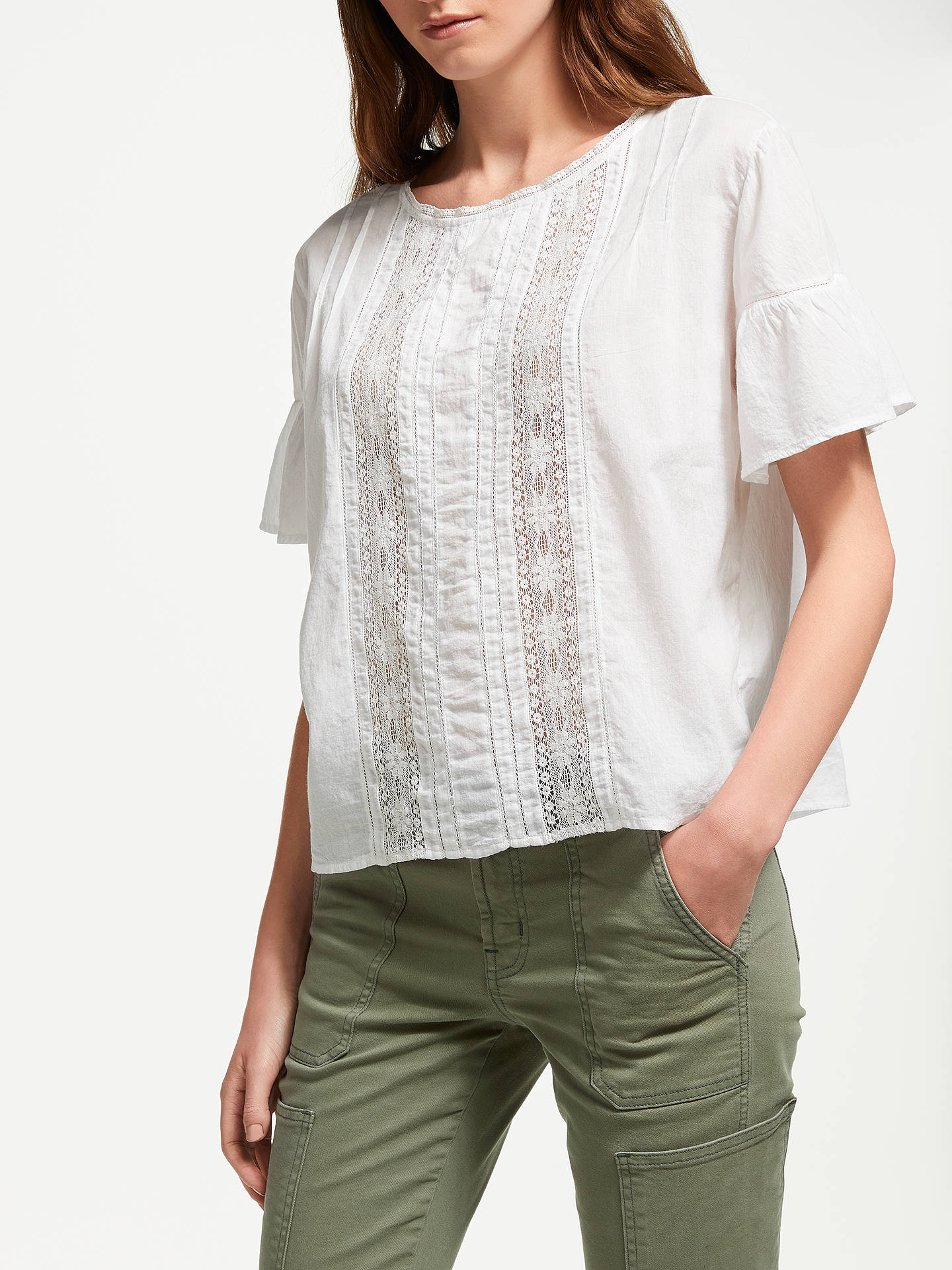 BuyVelvet by Graham & Spencer Sheri Top, White, XS Online at johnlewis.com